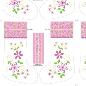 Pink Daisies Christmas stocking