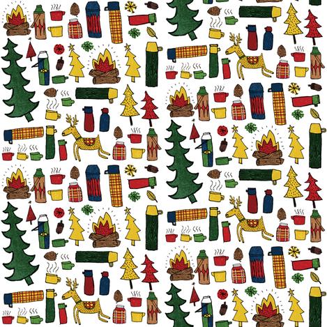 Christmas thermos fabric by laurawrightstudio on Spoonflower - custom fabric