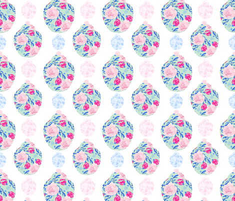 Shabby Chic Jars in Pistachio, roses, and blue fabric by karenharveycox on Spoonflower - custom fabric