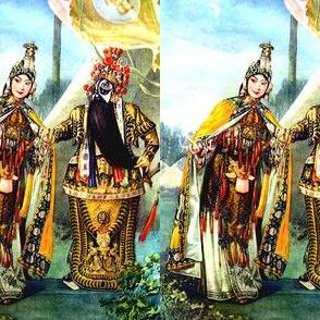 asian china chinese oriental fighting woman lady man warriors war battles traditional martial arts kung fu beijing peking opera soldiers knights