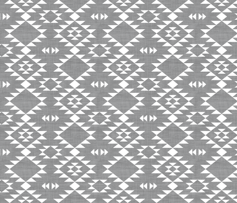Navajo - Texture Gray White fabric by kimsa on Spoonflower - custom fabric