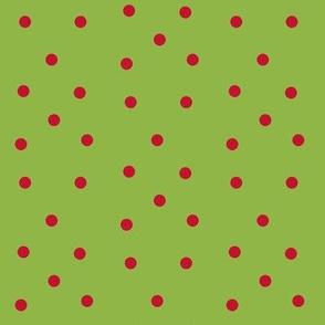 Polka Dots- red/green