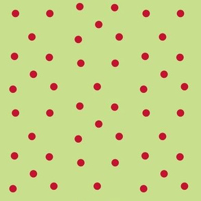 Polka Dots- red/kiwi