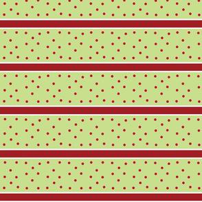 holly berry -kiwi dots & Stripes
