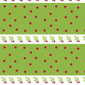 holly berry -red/green dots