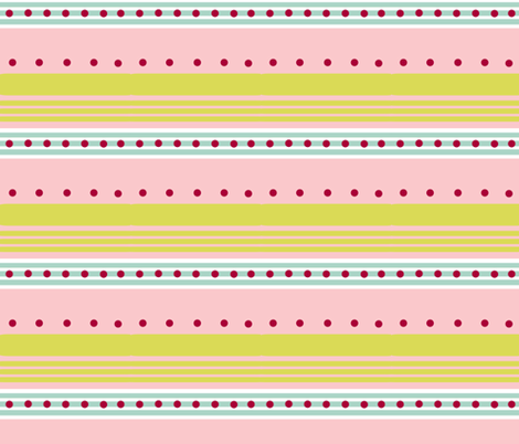 Comet -blue pink stripe fabric by drapestudio on Spoonflower - custom fabric