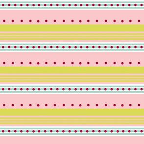 Comet -blue pink stripe