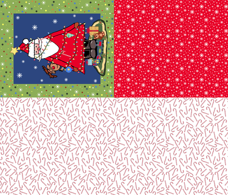 Santa Tree  fabric by taramcgowan on Spoonflower - custom fabric