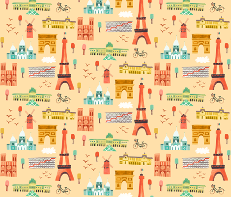 I dreamed of Paris fabric by ceneri on Spoonflower - custom fabric