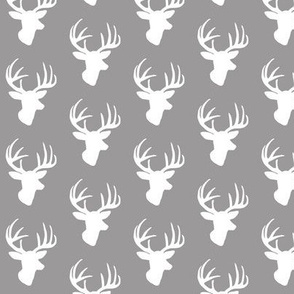 White deer on grey small