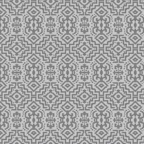 primitivo - gray linen - small print