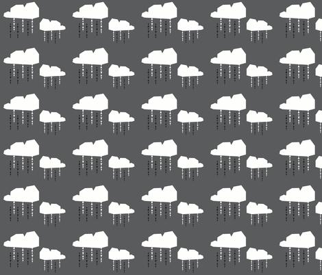 dark grey cloud - elvelyckan fabric by elvelyckan on Spoonflower - custom fabric