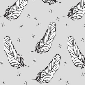 light grey feather - elvelyckan