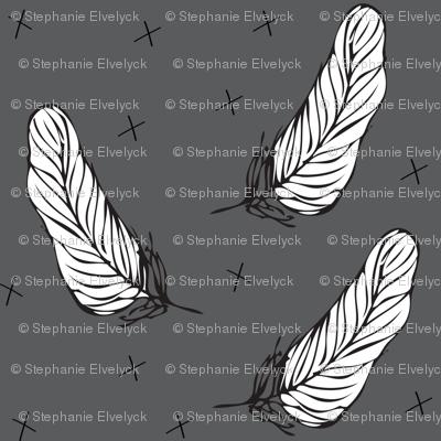 dark grey feather - elvelyckan