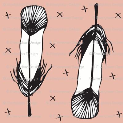 peach feather - elvelyckan