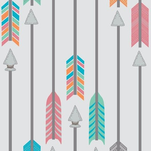 Quiver Full of Arrows in Green Pink Blue and Orange