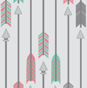 Quiver Full of Arrows in Green and Pink
