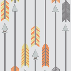 Quiver Full of Arrows in Yellow and Orange