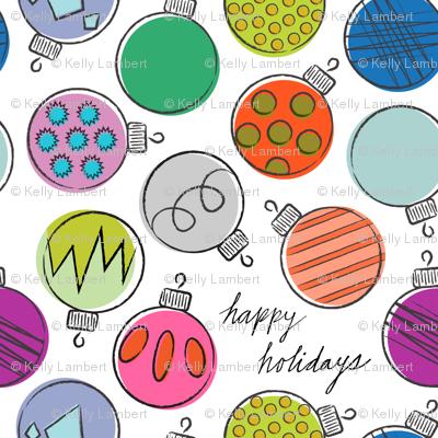 Retro Holiday Ornaments