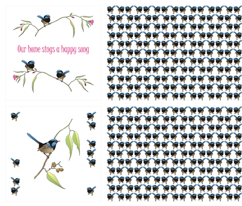 wren_cushions_2 fabric by tat1 on Spoonflower - custom fabric