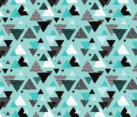 Geometric triangle aztec illustration hand drawn pattern for Kids pattern fabric