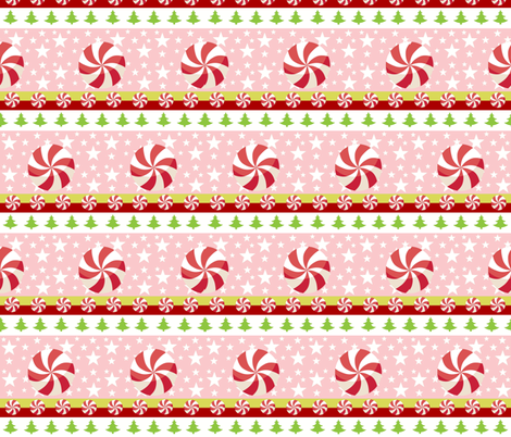 Comet pink -candy cane dream  fabric by drapestudio on Spoonflower - custom fabric