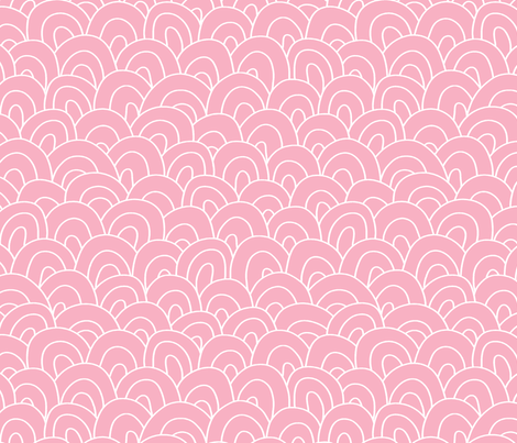 happy hills - pink fabric by designed_by_debby on Spoonflower - custom fabric