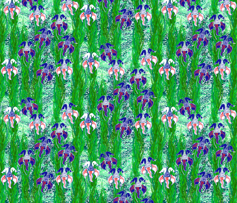 Ottoman Iris fabric by joancaronil on Spoonflower - custom fabric