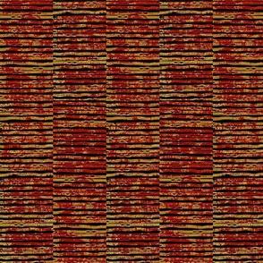 Rustic Rib - antique red/gold