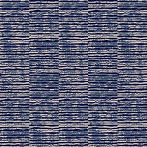 Rustic Rib - indigo and beige