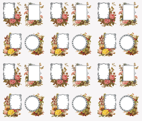 victorian_rose_quilt_labels fabric by tuscan_rose on Spoonflower - custom fabric