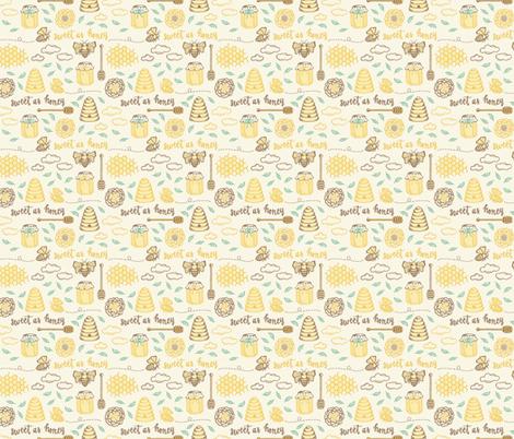 Sweet as Honey - gold fabric by jaymehennel on Spoonflower - custom fabric