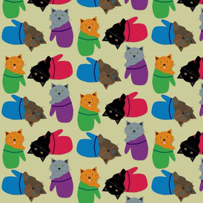 Kittens In Mittens