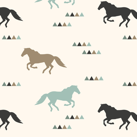 Wild Horses fabric by littlearrowdesign on Spoonflower - custom fabric