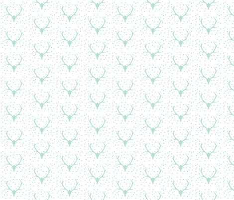 aqua confetti antler fabric by ivieclothco on Spoonflower - custom fabric