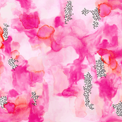 hand-painted watercolor abstract // pink + coral