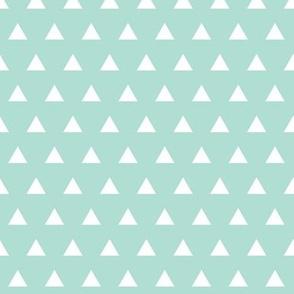 aqua triangles // small