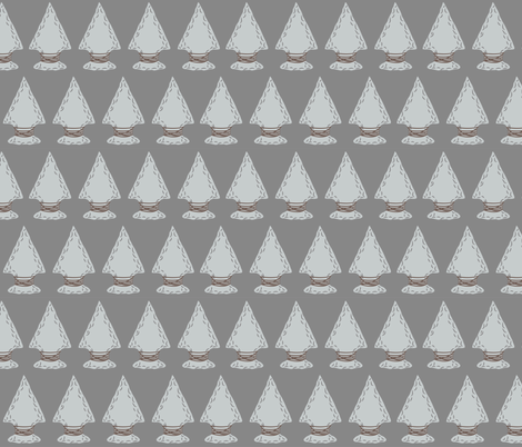 Quiver Full of Arrows - Dark Gray Arrowheads fabric by bella_modiste on Spoonflower - custom fabric