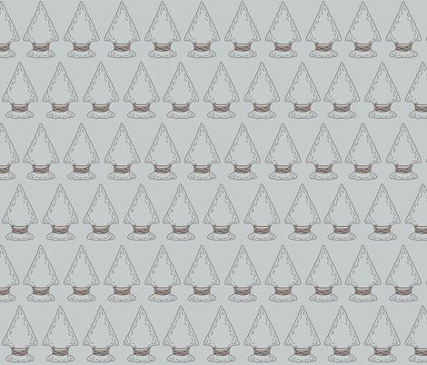 Quiver Full of Arrows - LIght Gray Arrowheads fabric by bella_modiste on Spoonflower - custom fabric