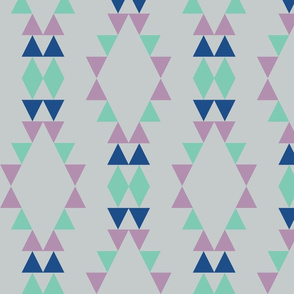 Quiver Full of Arrows Triangles in Blue Green Purple
