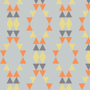 Quiver Full of Arrows Triangles in Dark Gray Yellow Orange