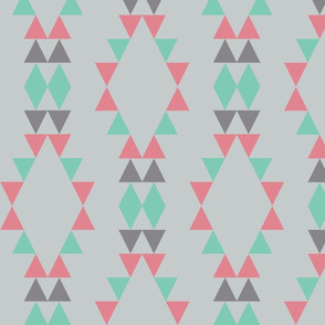 Quiver Full of Arrows Triangles in Green Dark Gray Pink