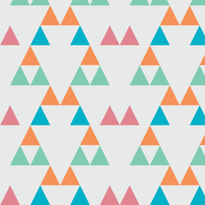 Quiver Full of Arrows Triangles Two in Green Orange Pink Turquiose Blue