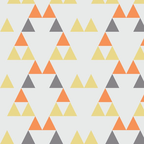 Quiver Full of Arrows Triangles Two in Orange Yellow Dark Gray