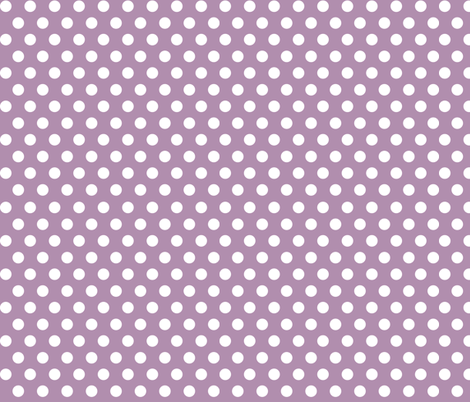 Quiver Full of Arrows Polka Dots in Purple fabric by bella_modiste on Spoonflower - custom fabric