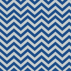 Dark Gray and Blue Chevrons