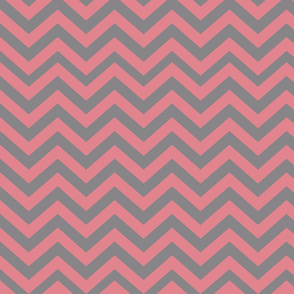 Dark Gray and Pink Chevrons