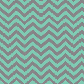 Green and Dark Gray Chevrons
