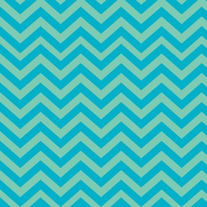 Green and Turquiose Blue Chevrons