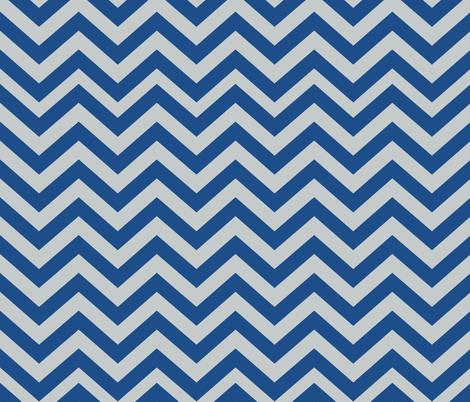 Light Gray and Blue Chevrons fabric by bella_modiste on Spoonflower - custom fabric